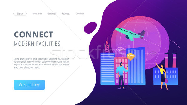 Global internet of things smart city concept vector illustration Stock photo © RAStudio