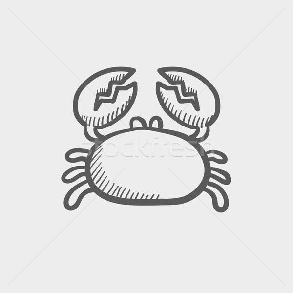 Crab sketch icon Stock photo © RAStudio