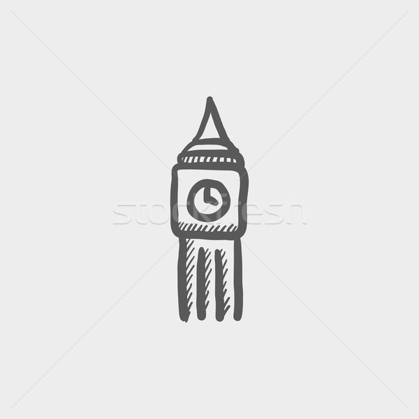 Big ben clock sketch icon Stock photo © RAStudio