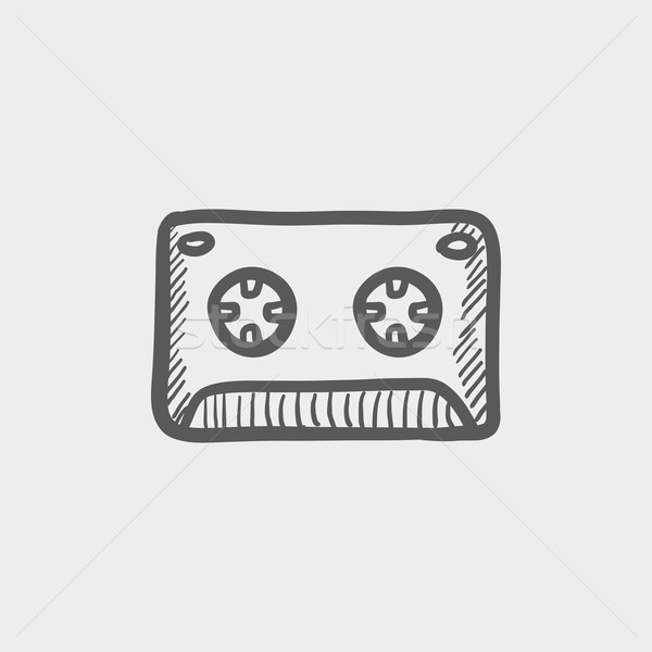 Cassette tape sketch icon Stock photo © RAStudio