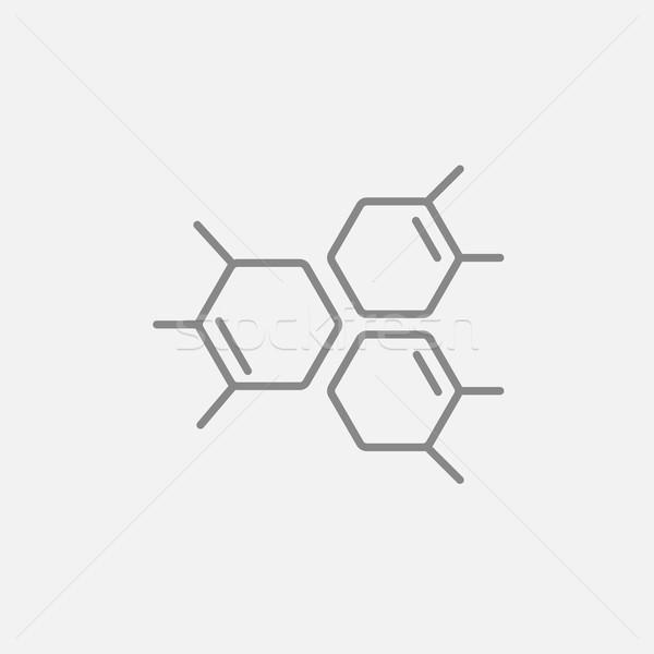 Kimyasal formül hat ikon web hareketli Stok fotoğraf © RAStudio
