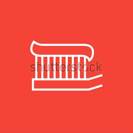 Spazzolino dentifricio line icona web mobile Foto d'archivio © RAStudio