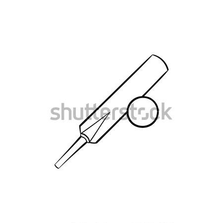 Críquete linha ícone teia móvel infográficos Foto stock © RAStudio