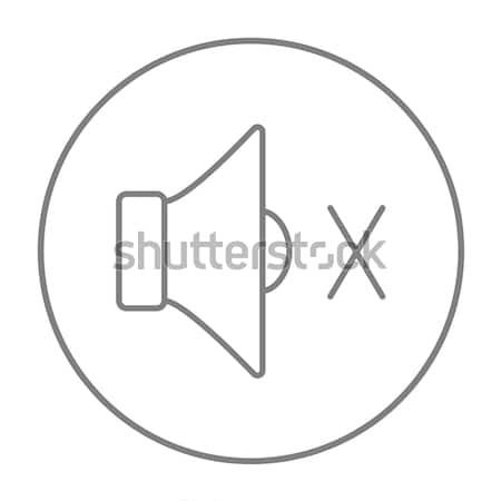 Kısmak konuşmacı hat ikon web hareketli Stok fotoğraf © RAStudio