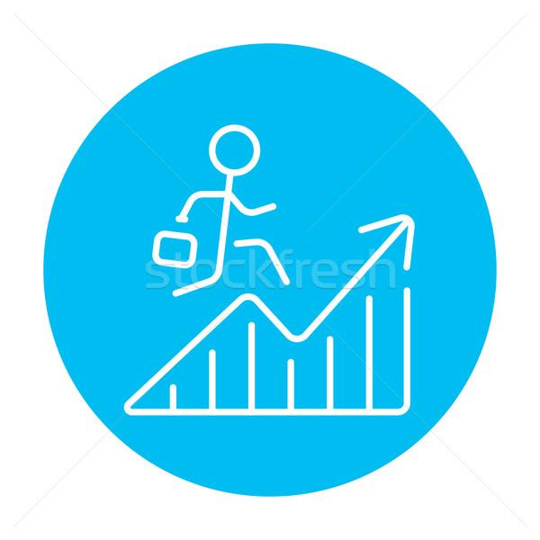 Financial recovery line icon. Stock photo © RAStudio