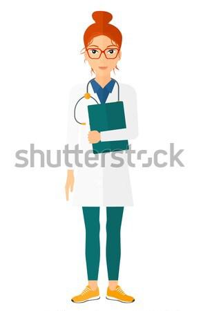 врач стетоскоп файла счастливым вектора дизайна Сток-фото © RAStudio