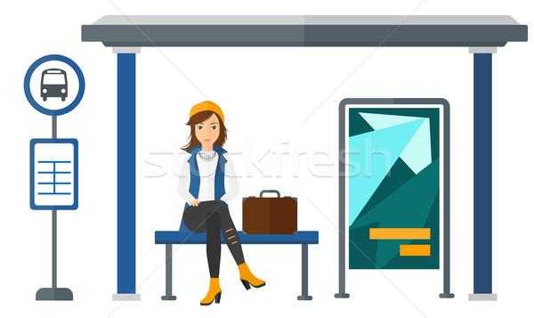 Woman waiting for bus. Stock photo © RAStudio