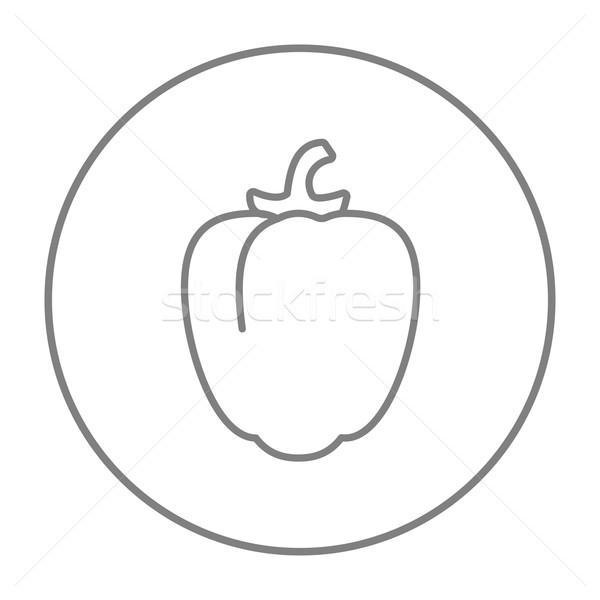Biber hat ikon web hareketli infographics Stok fotoğraf © RAStudio