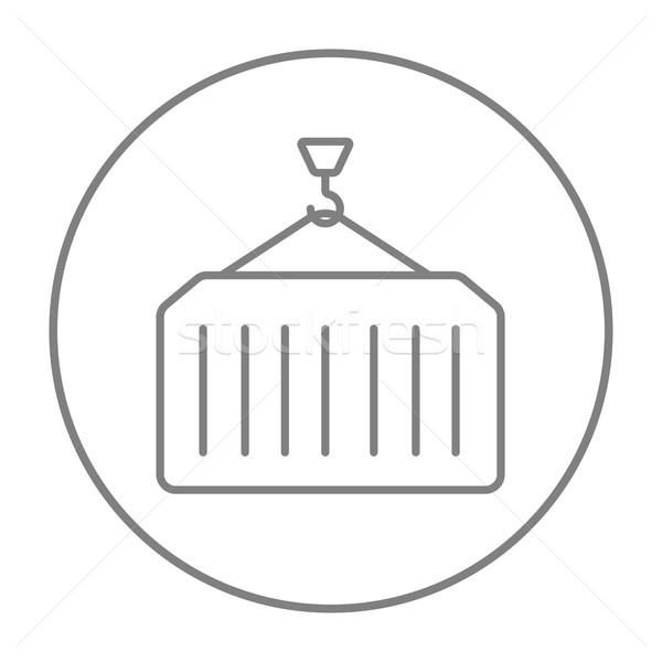 Teher konténer vonal ikon állvány háló Stock fotó © RAStudio
