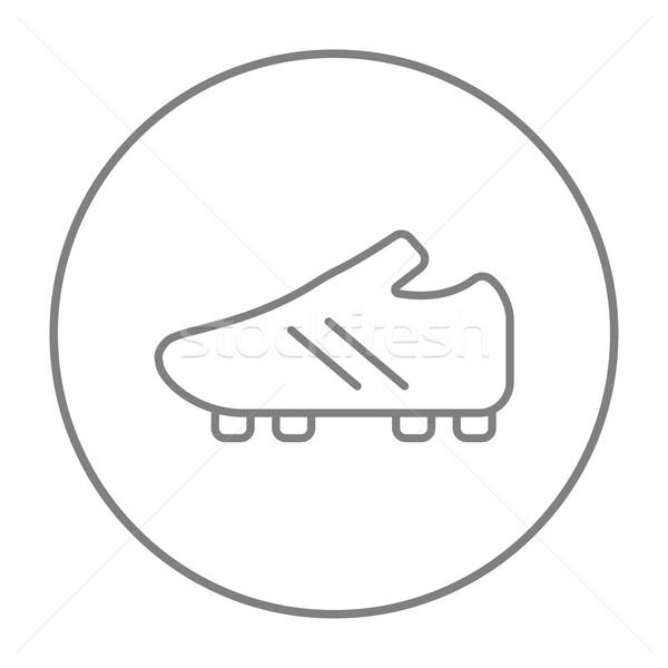 Stock fotó: Futball · csizma · vonal · ikon · háló · mobil