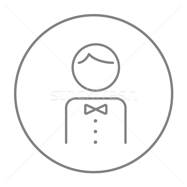 Waiter line icon. Stock photo © RAStudio