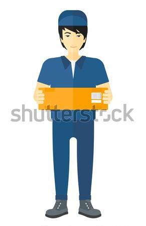 Man delivering box. Stock photo © RAStudio