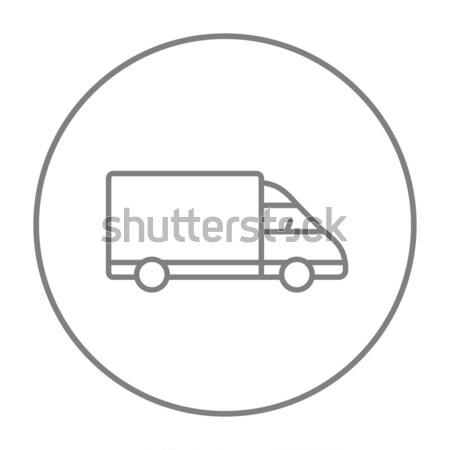 Camion de livraison ligne icône web mobiles infographie Photo stock © RAStudio