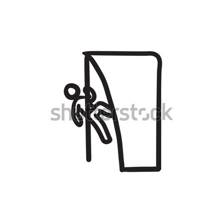 Rock climber line icon. Stock photo © RAStudio