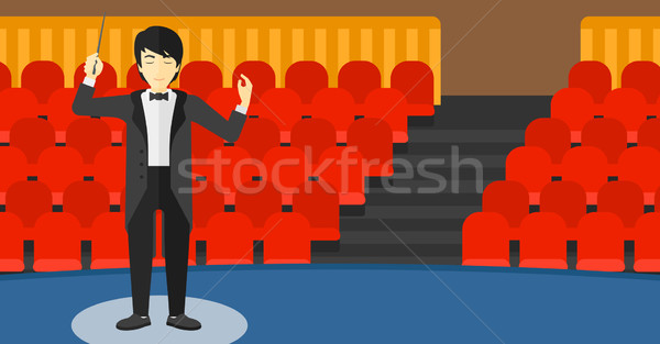 Conductor directing with baton. Stock photo © RAStudio