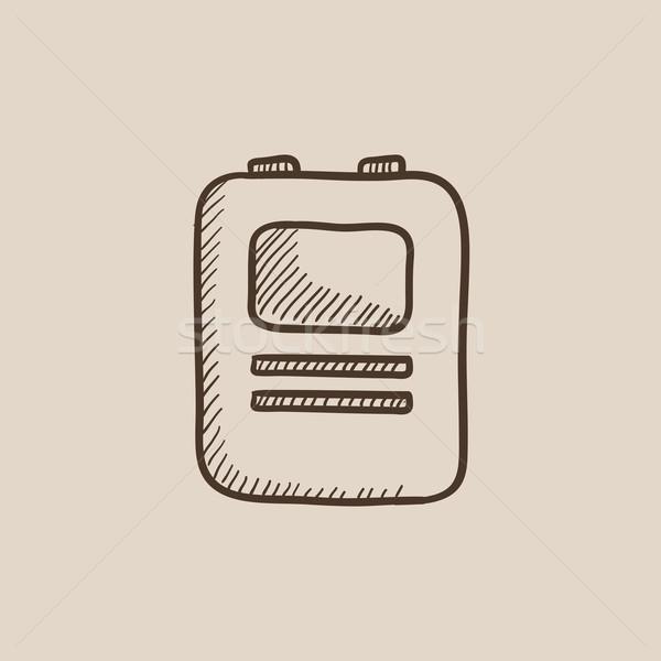 中心 除細動器 スケッチ アイコン ウェブ 携帯 ストックフォト © RAStudio