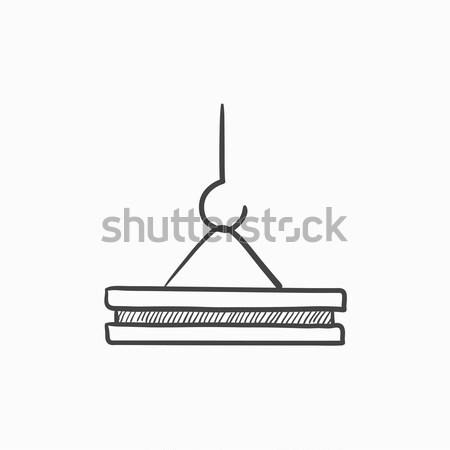 Guindaste gancho linha ícone concreto Foto stock © RAStudio