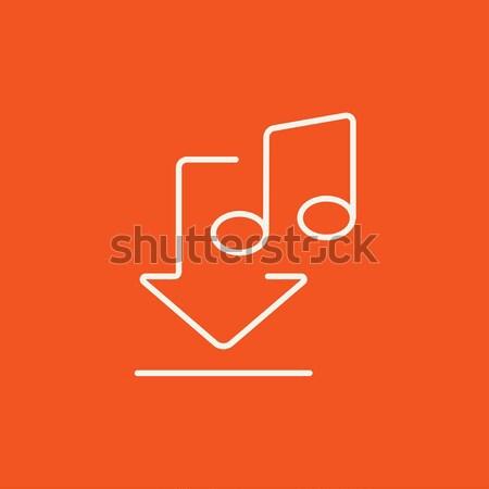 Photo stock: Téléchargement · musique · ligne · icône · web
