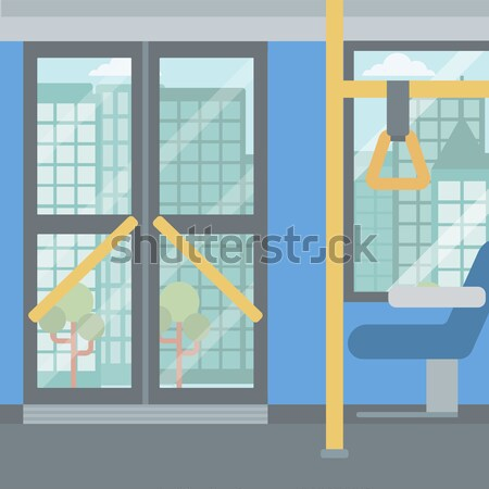 Background of modern empty city bus. Stock photo © RAStudio