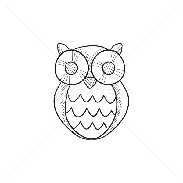 Owl sketch icon. Stock photo © RAStudio