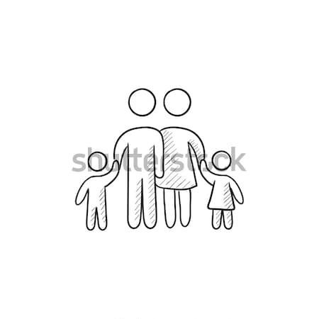 Family Sketch Icon. Vector Illustration © Andrei Krauchuk