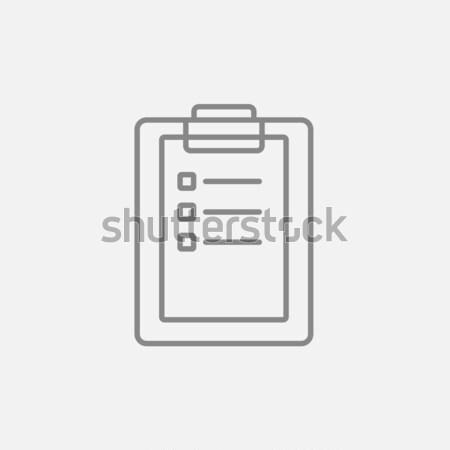 Medical report sketch icon. Stock photo © RAStudio