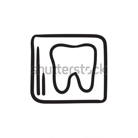 X-ray of tooth sketch icon. Stock photo © RAStudio