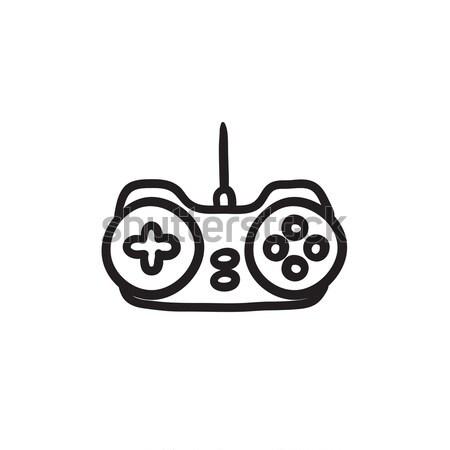 джойстик эскиз икона вектора изолированный рисованной Сток-фото © RAStudio