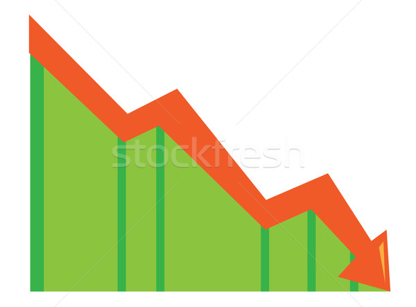 Arrow pointing downwards vector illustration. Stock photo © RAStudio