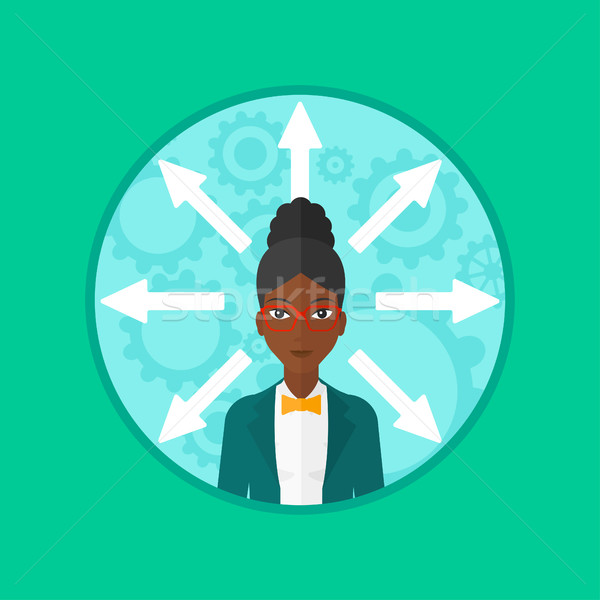 Woman choosing career way vector illustration. Stock photo © RAStudio