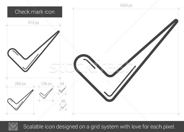 Check mark line icon. Stock photo © RAStudio