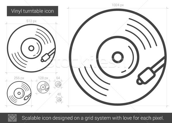 Vinyl turntable line icon. Stock photo © RAStudio