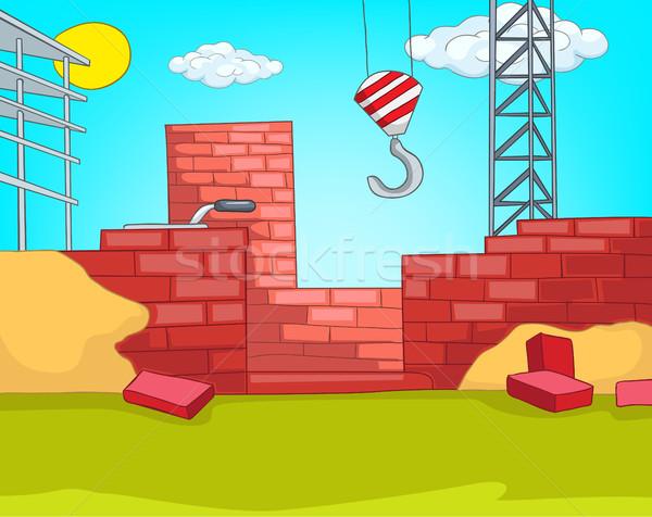 Karikatür kentsel ev inşaat Stok fotoğraf © RAStudio