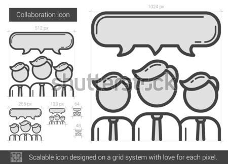 Collaborazione line icona vettore isolato bianco Foto d'archivio © RAStudio