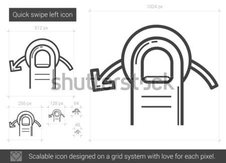Quick swipe right line icon. Stock photo © RAStudio
