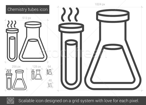 Chemistry tubes line icon. Stock photo © RAStudio