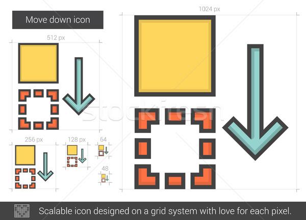 Move down line icon. Stock photo © RAStudio