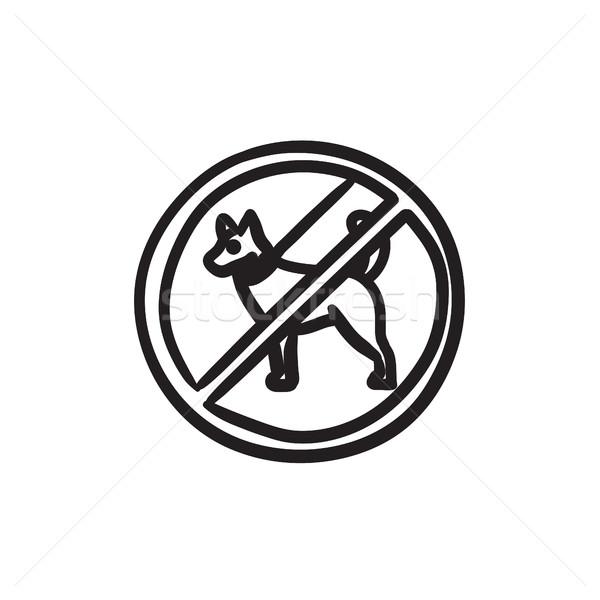 No dog sign sketch icon. Stock photo © RAStudio