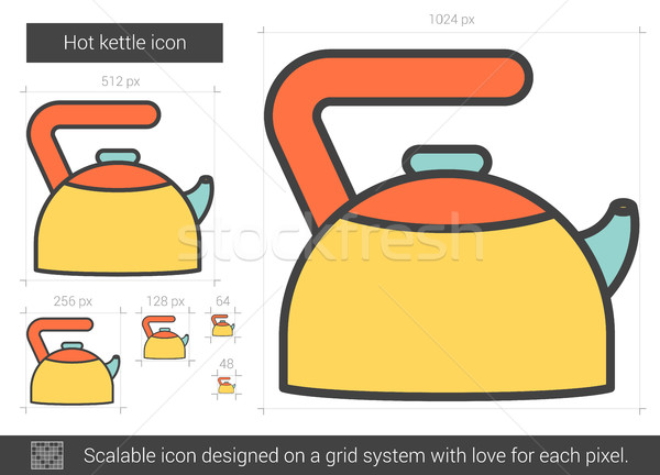 Hot kettle line icon. Stock photo © RAStudio