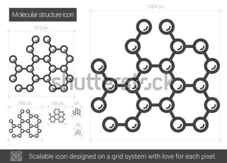 Molekularny struktury line ikona wektora odizolowany Zdjęcia stock © RAStudio