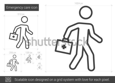Emergency care line icon. Stock photo © RAStudio