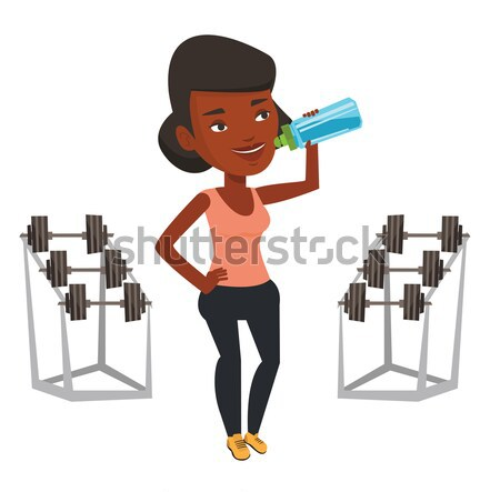 Mujer ejercicio pesado Foto stock © RAStudio