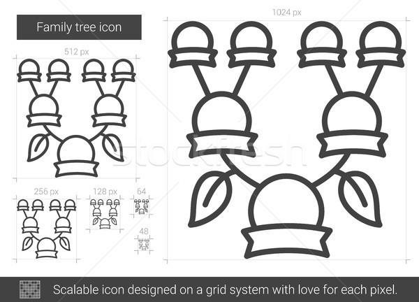 Aile ağaç hat ikon vektör yalıtılmış Stok fotoğraf © RAStudio