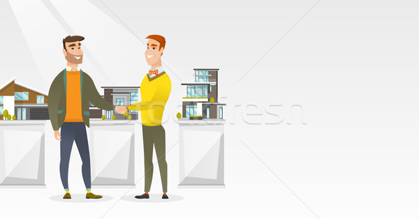 Agreement between real estate agent and buyer. Stock photo © RAStudio