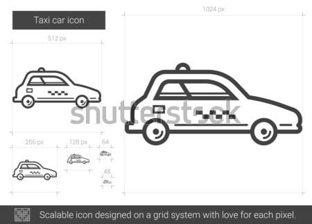 Taxi coche línea icono vector aislado Foto stock © RAStudio