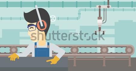 男 作業 金属 キーを押します マシン ワーカー ストックフォト © RAStudio