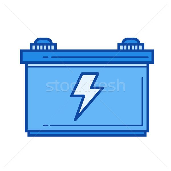 Carro bateria linha ícone vetor isolado Foto stock © RAStudio
