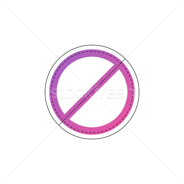 Neon prohibition or no sign vector line icon. Stock photo © RAStudio