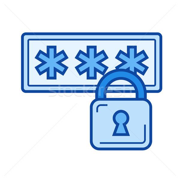 Internet segurança linha ícone vetor isolado Foto stock © RAStudio