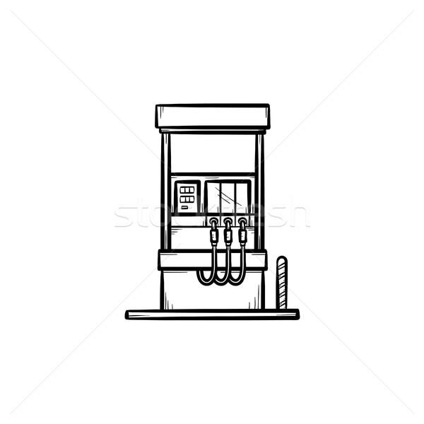 Stacji benzynowej szkic ikona gryzmolić Zdjęcia stock © RAStudio